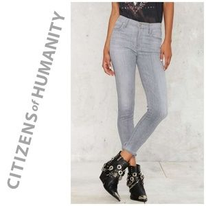 Citizens of Humanity | Crop High Rise Skinny Jeans